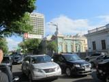 Kyiv: traffic, art nouveau, and Soviet, side by side