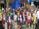 a street celebration of Ukraine in Europe