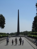 next morning, at the obelisk memorial to the Great Patriotic War (WW2)
