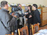 Alex F. and Marla are interviewed by Rohatyn TV news!