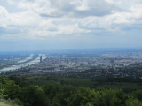 a view over the city and Danube river