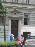 ...and the building where he lived with his parents until 1938