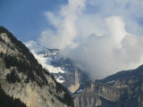 up above, the Jungfrau and other mountains keep watch thru the clouds