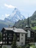 arriving in Zermatt, a familiar icon awaits