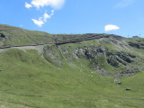 the rails are at times crazy steep...