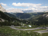 snaking down to the Val Badia