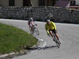 and bicyclists continue to train for next week's one-day/seven-passes race