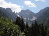 continuing on through the Giulian Alps, and out of Italy