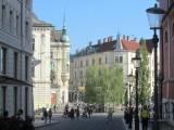 in the capital city Ljubljana, we stroll to Prešeren square, center of the downtown