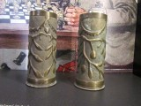 vases carved from WWI artillery shells