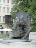 a statue of Ivan Hribar, beloved mayor from the turn of the 20th century