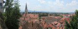 panorama: hiking down from the castle