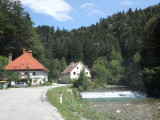 heading north on small roads from Kranj, we follow the Kokra river