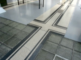 ...including the glass-block floors used to distribute light in the main hall