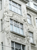 nearly all the buildings on this block are beautifully ornamented