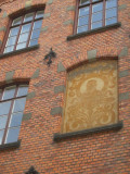 lots of brick faces in Stockholm's older areas...