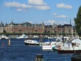 on the Skeppsholm bridge again, heading toward Norrmalm...