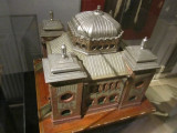 a model of the synagogue in the southern city of Malmö