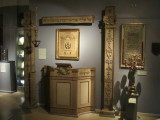 the pulpit from the 19th-c. synagogue on Gamla Stan