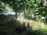 in the middle of the island, a tiny Jewish cemetery (Aronsberg) dating from 1776