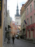 walking up the medieval streets