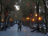 night falling on Prymorsky blvd