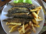 our appetites are ready for a local specialty: bull-headed 'bychky' (goby)
