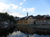 ...to arrive in Bohemia's Cesky Krumlov as evening approaches