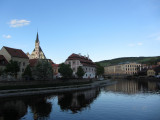 it's a short walk over the Vltava from our pension to the old town (and dinner)