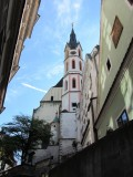 approaching the church of St. Vitus