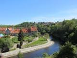 ...and down the Vltava toward an old factory area