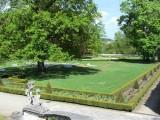 above the castle, the gardens are a calm retreat