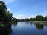 a view up the Otava from Kamenny (Stone) bridge...