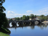 the bridge dates from the 1200s and is the oldest surviving in Bohemia