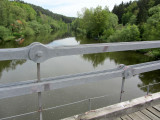 this bridge was moved here from its original position over the Vltava river near Podoli I