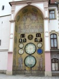 this astronomical clock was rebuilt in the 1950s with a Soviet aesthetic