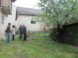 now the discussion is about where other stones may still be found in this courtyard