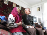 Alex and Mr. Vorobets ask her to tell us her recollections of the war, when she was a small girl