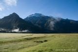 Waipara Range from Arawhata River valley