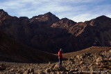 Aaron, and morning light - Red Mountain behind