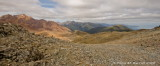 panorama of Red Mountain to Big Bay.