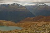 Alpine lake, with Arcade Creek Valley and Olivine Range beyond