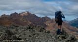 Aaron taking photo, Red Mountain beyond.