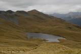 Alpine tarn, during walk northward along Red Hill tops