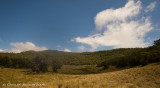View from campsite as sunny weather returns