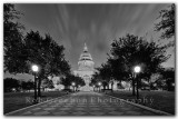 Texas State Capital before sunrise