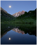 Moonglow at the Maroon Bells