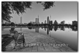 Austin Skyline - Park Bench with a view