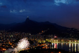Rio Firework seen from Sugar Loaf ( Corcovado in the back)