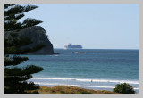 Cruise ship headed out from Tauranga
